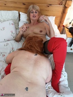 Mrs Leather. Girl On Girl Action Free Pic 17
