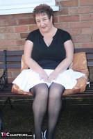 Kinky Carol. White Mini & Stockings Pt1 Free Pic 4