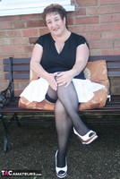 Kinky Carol. White Mini & Stockings Pt1 Free Pic 5
