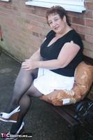 Kinky Carol. White Mini & Stockings Pt1 Free Pic 6