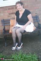 Kinky Carol. White Mini & Stockings Pt1 Free Pic 11