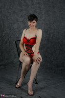 Hot Milf. Red Lingerie Free Pic 3