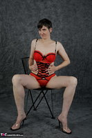 Hot Milf. Red Lingerie Free Pic 7