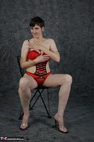Hot Milf. Red Lingerie Free Pic 9