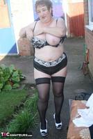 Kinky Carol. White Mini & Stockings Pt2 Free Pic 7