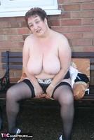 Kinky Carol. White Mini & Stockings Pt2 Free Pic 12