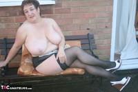 Kinky Carol. White Mini & Stockings Pt2 Free Pic 13