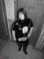 Mrs Leather. Kinky PVC All In One Outfit Free Pic 2