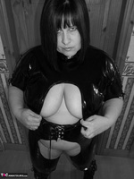 Mrs Leather. Kinky PVC All In One Outfit Free Pic 13