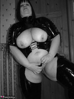 Mrs Leather. Kinky PVC All In One Outfit Free Pic 17