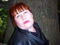 Mrs Leather. Flashing In The Woods Free Pic 1