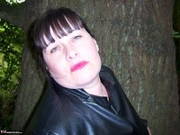 Mrs Leather. Flashing In The Woods Free Pic 4