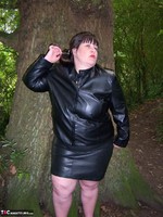 Mrs Leather. Flashing In The Woods Free Pic 5