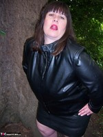 Mrs Leather. Flashing In The Woods Free Pic 8