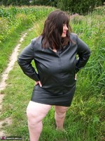 Mrs Leather. Flashing In The Woods Free Pic 12