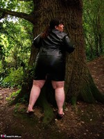 Mrs Leather. Flashing In The Woods Free Pic 20