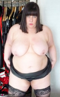 Mrs Leather. Slutty Leather Micro Skirt Free Pic 12