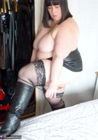 Mrs Leather. Slutty Leather Micro Skirt Free Pic 13