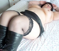 Mrs Leather. Slutty Leather Micro Skirt Free Pic 14