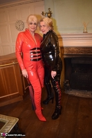 Phillipas Ladies. Dimonty & Camilla In Their PVC Catsuits Free Pic 2