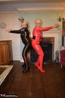 Phillipas Ladies. Dimonty & Camilla In Their PVC Catsuits Free Pic 10