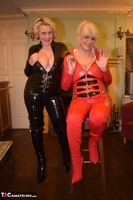 Phillipas Ladies. Dimonty & Camilla In Their PVC Catsuits Free Pic 11