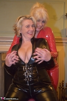 Phillipas Ladies. Dimonty & Camilla In Their PVC Catsuits Free Pic 13