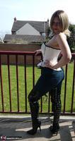 Posh Sophia. Thigh Boots On The Balcony Free Pic 9