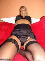Sweet Susi. Nylon Skirt & Holdups Free Pic 6