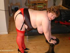 Chris44G - Red Waspie & Stockings 3 Photo Album