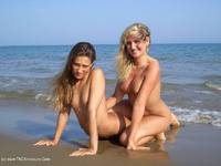 Sexy Marry - With my girlfriend Angie at the beach. - Free Porn Pics