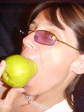 Pear fun You can never have enough fun with fruit. Milf, cougar, petite, tiny tits, united states, sex toys