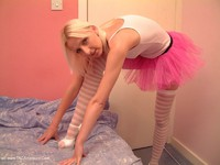 traceylain - Blonde In Pink Stockings Free Pic 1