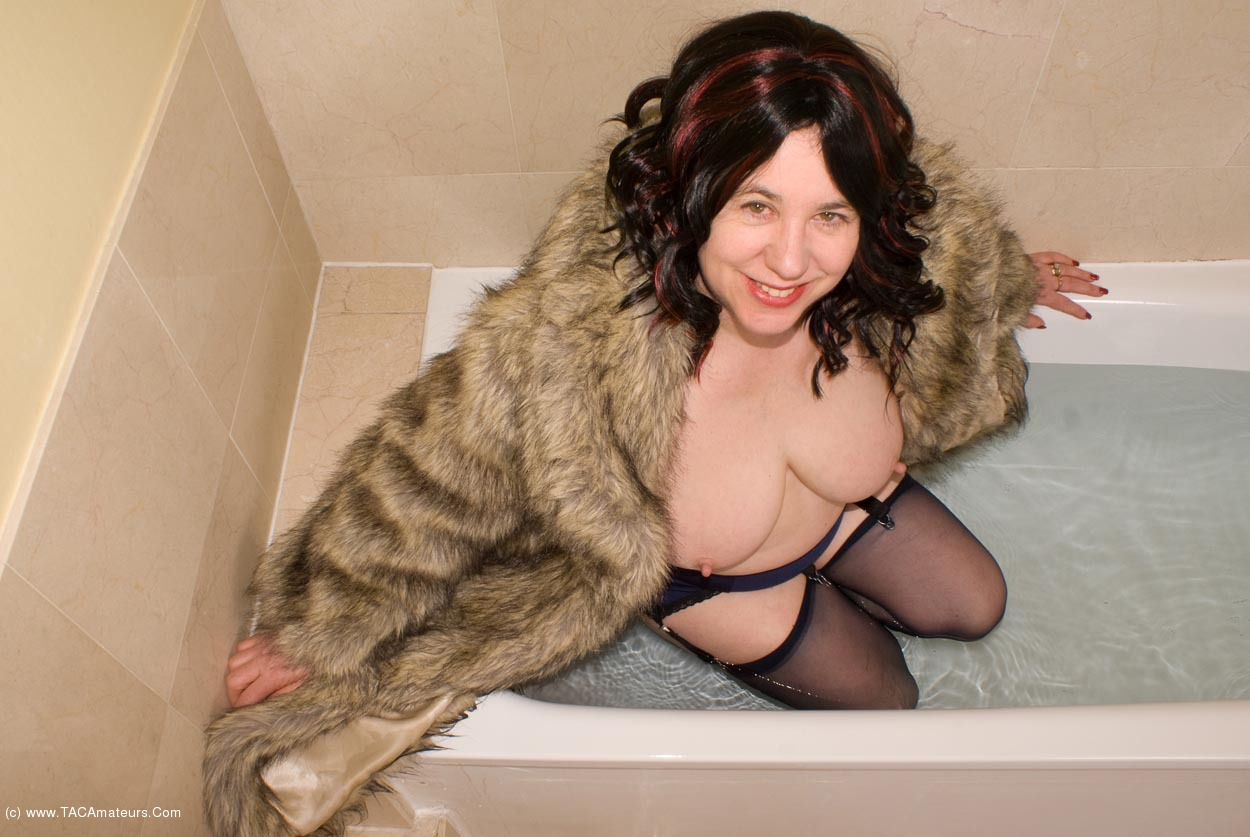 Milf in fur coat
