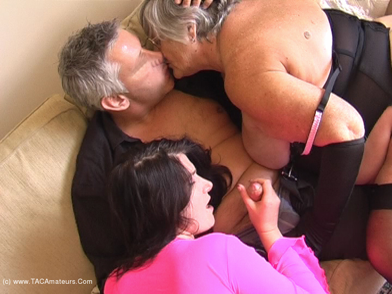 Grandma libby and angel eyes share a young cock 7