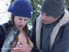 DavesYoungSluts - Cute Teen Fucked In The Snow Video