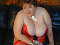 Red Waspie & Stockings 1