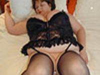Black Basque & Stockings