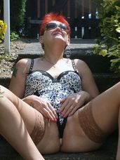Sunny day. A girl need to get out in her new lascivious