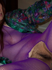 Purple anatomy stocking Cum and see me have fun while i tease u in my purple bodystocking.... Cougar, milf, mature, united states, pantyhose, nylons, solo, striptease