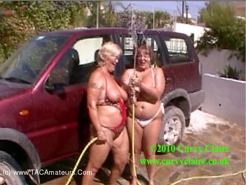 CurvyClaire - Car Wash Fun With Randy Raz Pt1 scene 1