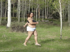 CurvyBabyGirl - Running In The Woods Photo Album