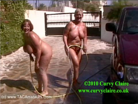 CurvyClaire - Car Wash Fun With Randy Raz Pt2 scene 1