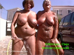 CurvyClaire - Car Wash Fun With Randy Raz Pt2 HD Video