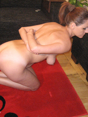 Tits punishment I had to stay on my knees complaisant without to moving. He put a dog collar on my neck and bound my breasts firmly with a di. Rough sex, cougar, milf, european, domination, bdsm