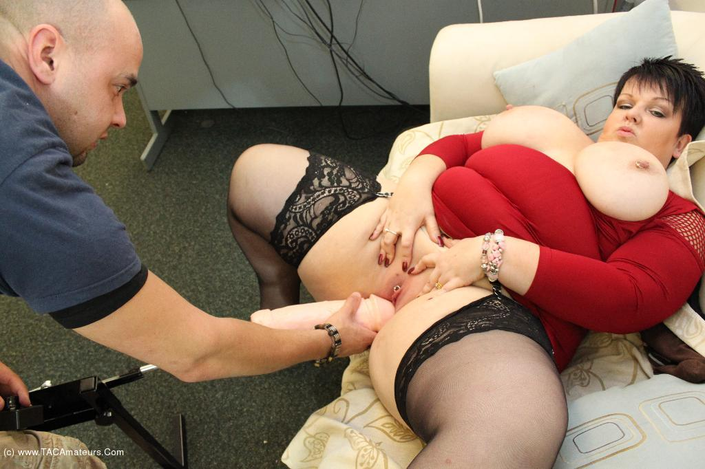 Fat milf smoking dildo in hairy pussy 10