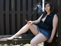 TrishaRene - Smoking Outdoors Pt1 Photo Album
