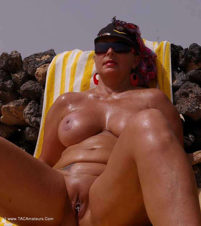 Real amateur mature couple on beach 6