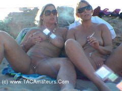 NudeChrissy - Nude Smoking On The Beach HD Video