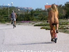 NudeChrissy - Nude Bicycle HD Video